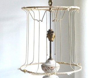 8417519d036 vintage large shabby chic lampshade bare lamp shade naked lampshade bare  lampshade