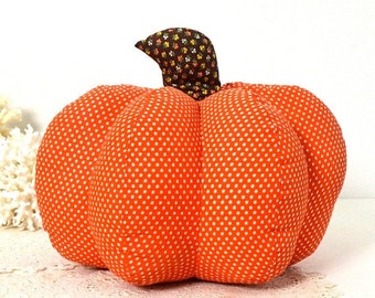 vintage stuffed pumpkin handmade pumpkin fall decor Halloween Thanksgiving pumpkin decor