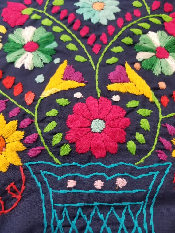 Handmade embroidered dress, mexican dress - image 2