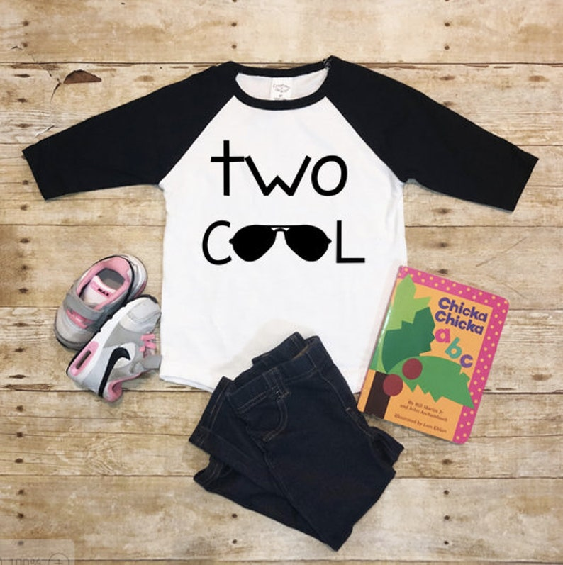 Two Cool Boys 2nd Birthday Shirt Second TOO