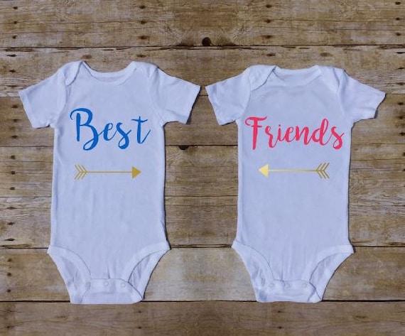 Twin Baby Gift Best Friends Twin Outfit Twin Bodysuit Twin Etsy