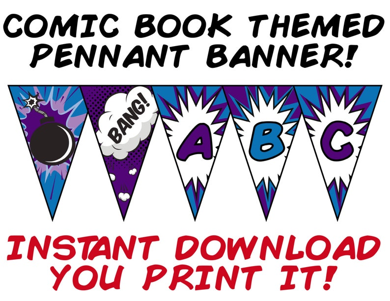 Comic Book Style Banners