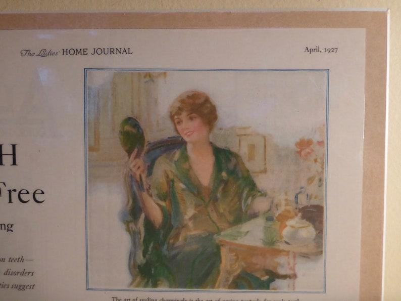 Bathroom Decor Ladies Home Journal April 1927 Pebeco Toothpaste Plaqued Advertisement Dental Office Decor