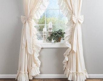Ruffled Curtains Etsy