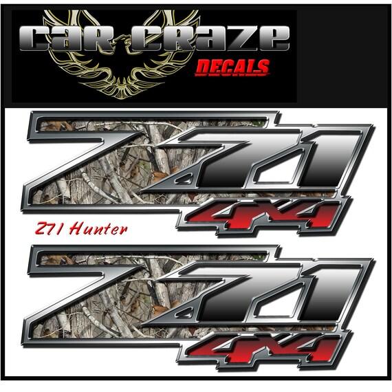 2 chevrolet z71 decals stickers 13x4 5 inch custom camo