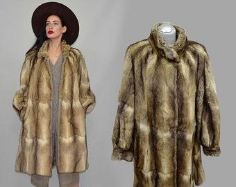 Vintage RIEGER Pelze Exclusive Ombre Furrier's Fitch Polecat Swinger Trapeze Volume Extent Flared Russian Princess Coat Cape Winter Jacket L