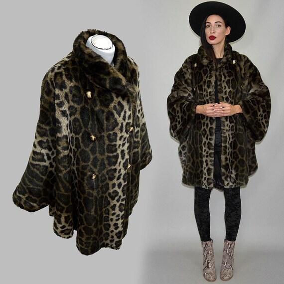 Vintage Plush Leopard Print Faux Fur Webpelz Drape