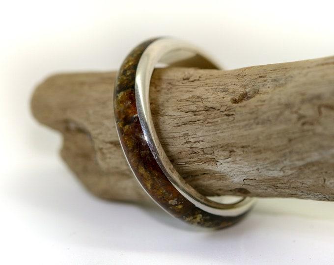 Baltic Amber Signet ring. Men band ring. Sterling silver signet ring. Men jewelry. Male ring. Silver ring. Amber ring. Gift for him