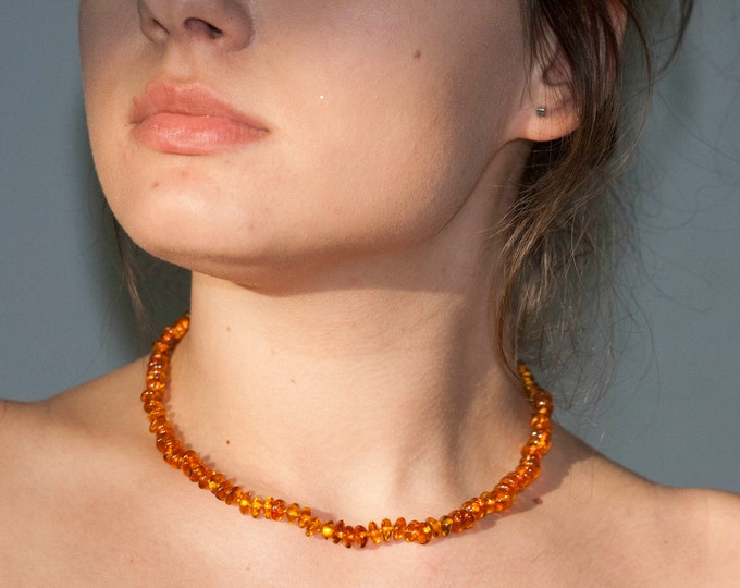 amber necklace, amber beads, coniac amber necklace, amber beads necklace, long necklace, baltic amber