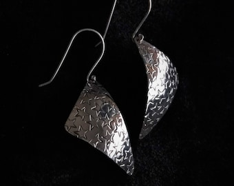 Handmade Sterling Silver Star Earrings