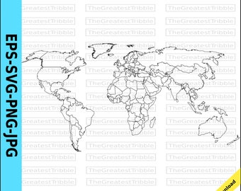 World map svg etsy world map world countries map eps svg png jpg vector graphic clip art outline world map outline countries map gumiabroncs Image collections