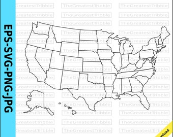 Usa map | Etsy