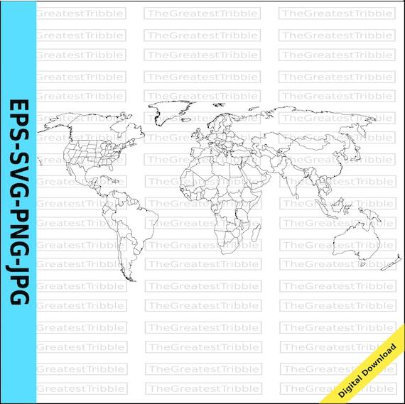 Cartina Mondo Png.Mondo Mappa Paesi Del Mondo E Noi Stati Mappa Eps Svg Png Jpg Etsy