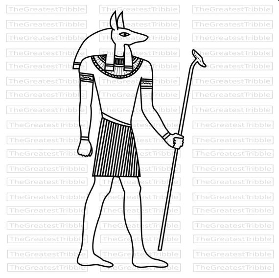 anubis egyptian god clip art eps svg vector graphic etsy Modern Egypt Art 50