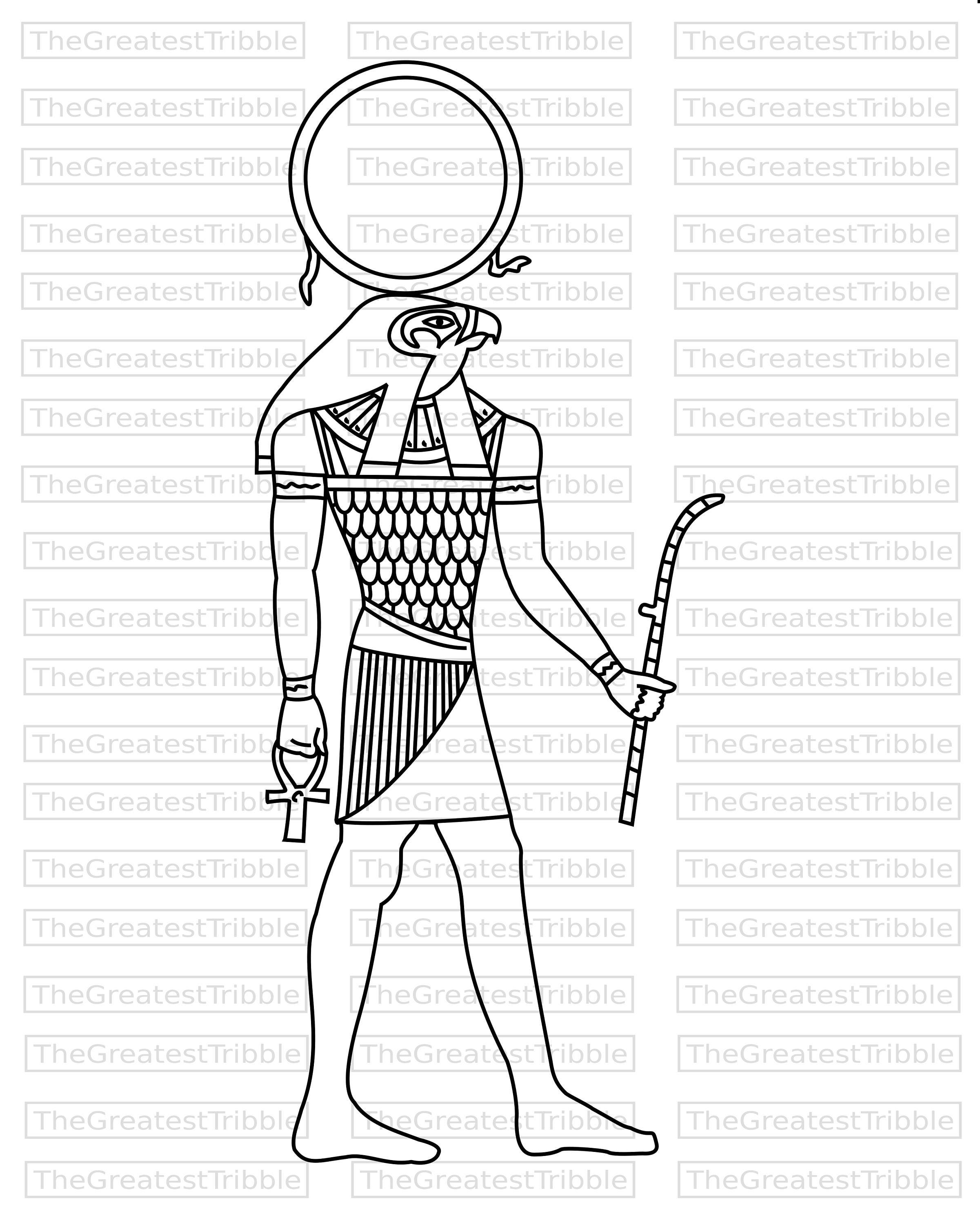 ra egyptian god clip art svg vector graphic clip art etsy Egypt Paintings 50