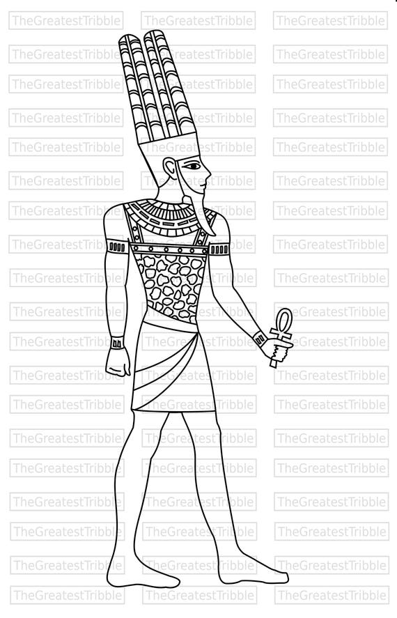 amun egyptian god clip art eps svg vector graphic clip etsy Egypt Art Paintings 50