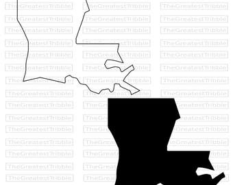 Louisiana outline Etsy