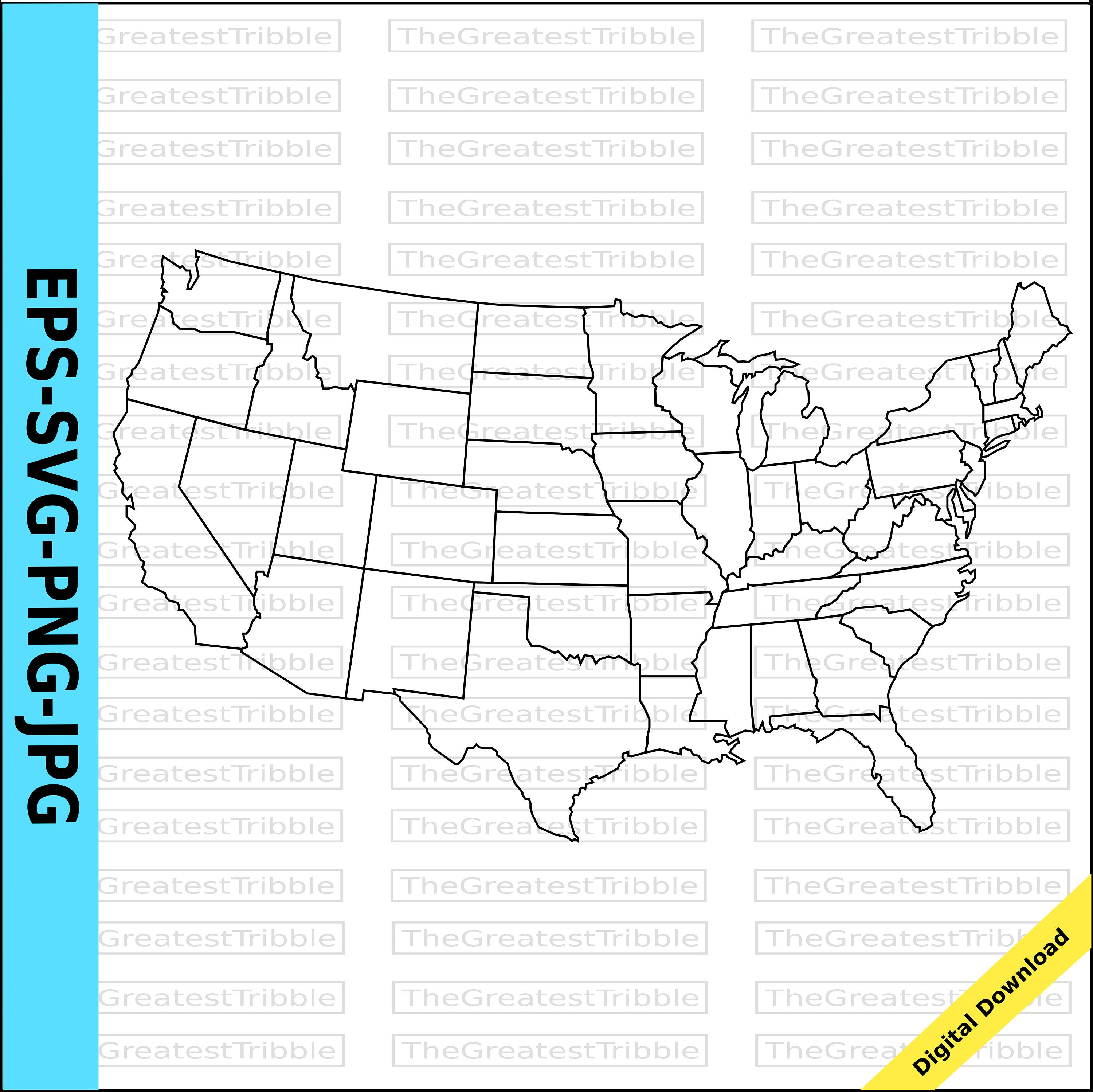 us map united states map state outlines transparent background eps svg png jpg from thegreatesttribble on etsy studio