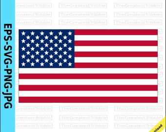 United States Flag eps svg png jpg Vector Graphic Clip Art  US Flag United States of America