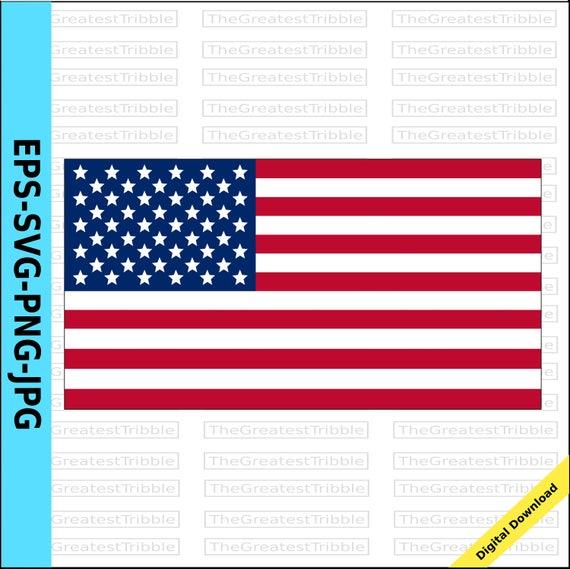united states flag eps svg png jpg vector graphic clip art us flag rh etsystudio com United States of America Symbols Words United States of America