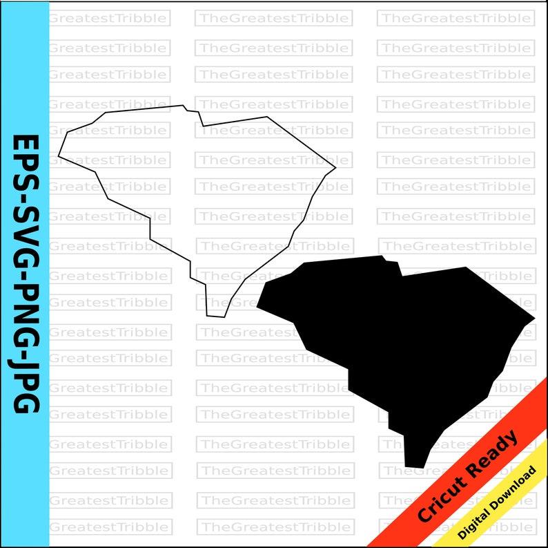 South Carolina State Map Svg Png Jpg Eps Jpeg Vector Graphic Etsy