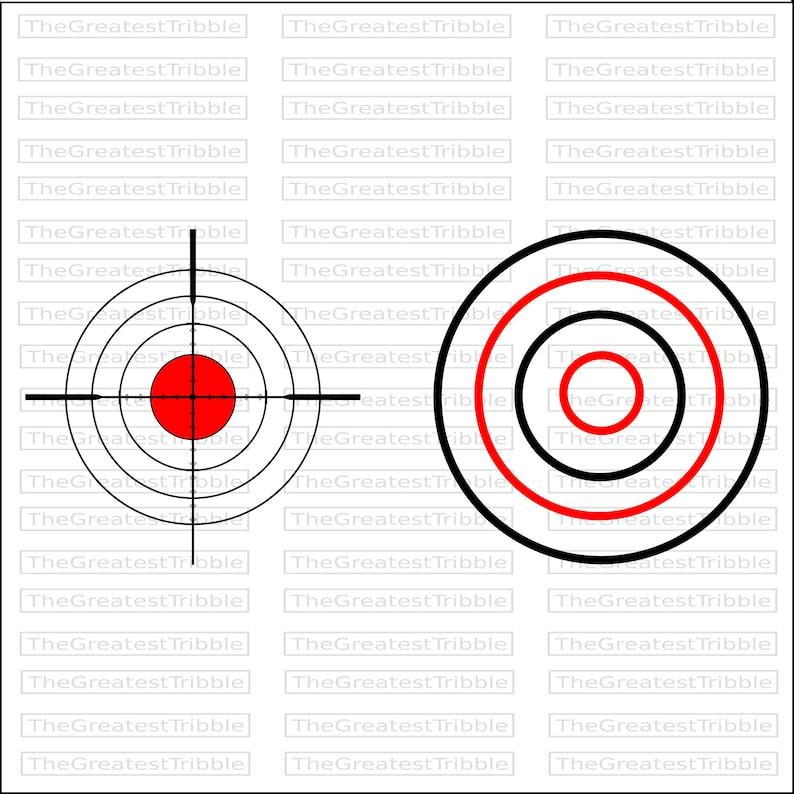 Bulls Eye Shooting Target eps svg png jpg Vector Graphic Collection