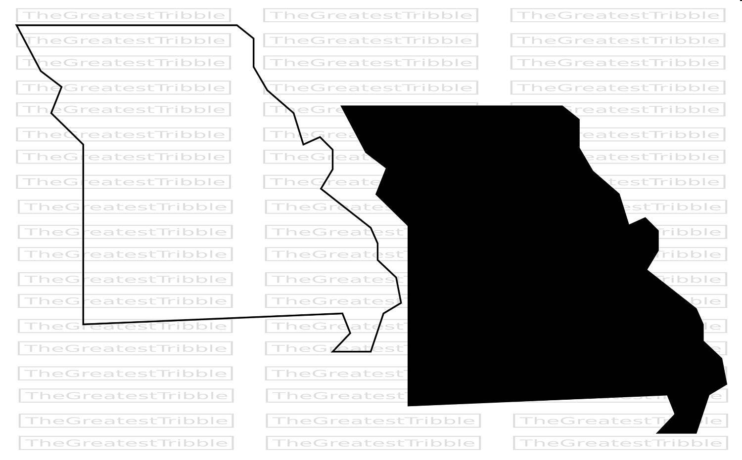 Missouri State Map Svg Png Jpg Vector Graphic Clip Art Etsy