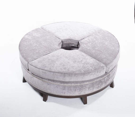 Marvelous Round Ottoman With Bolster Pillows Open In The Middle Squirreltailoven Fun Painted Chair Ideas Images Squirreltailovenorg