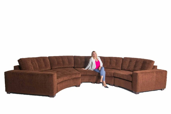 Large curved modern sectional sofa