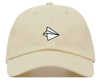 4bbe81f5e8f051 PAPER AIRPLANE Baseball Hat, Embroidered Dad Cap • Travel Wanderlust  Origami • Unstructured Six Panel • Adjustable Strap Back