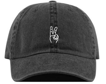 PEACE HAND Baseball Hat e52e4c238916