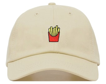 Fries Baseball Hat - Embroidered Dad Cap    Unique Gift Ideas for Her and  Women 77a8d13ceeb5