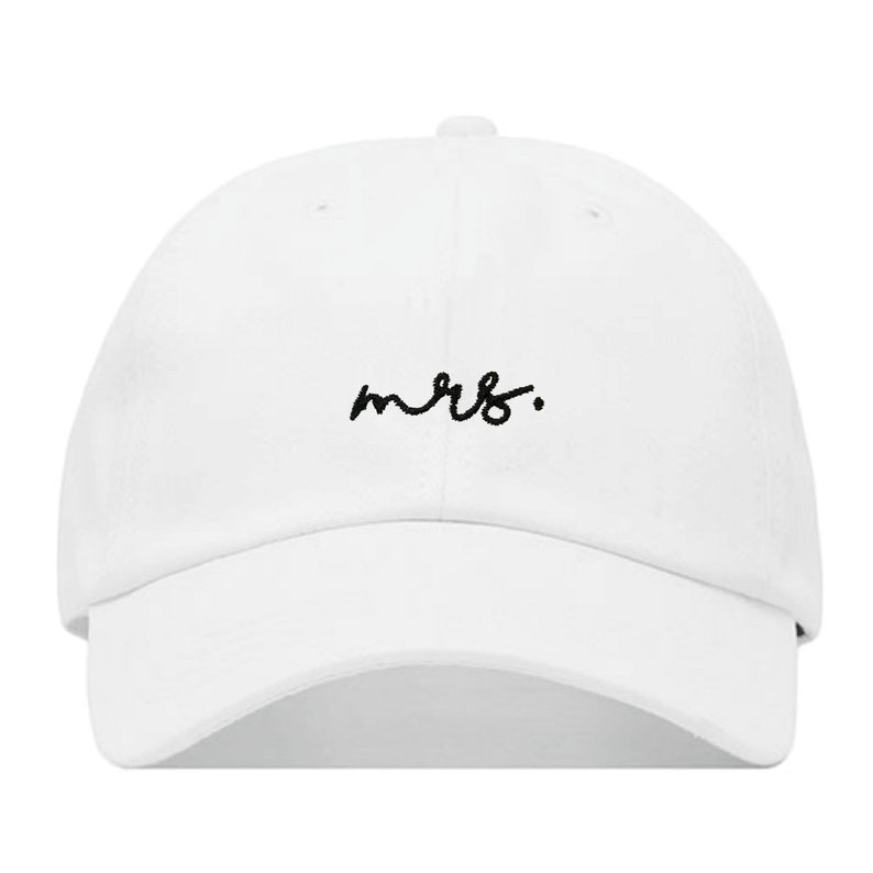 MRS. Baseball Hat Embroidered Dad Cap Married Wife Newly image 0
