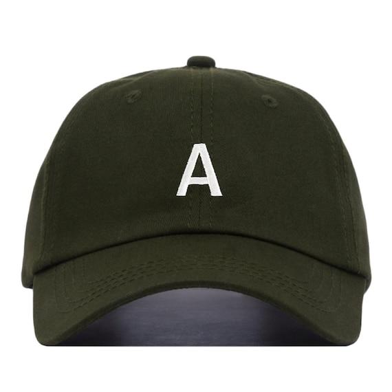 LETTER Baseball Hat Embroidered Dad Cap Monogram Alphabet  925a4dd0cf2f