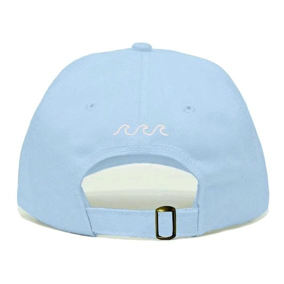 WAVES Baseball Hat Embroidered Dad Cap Beach Ocean Sea