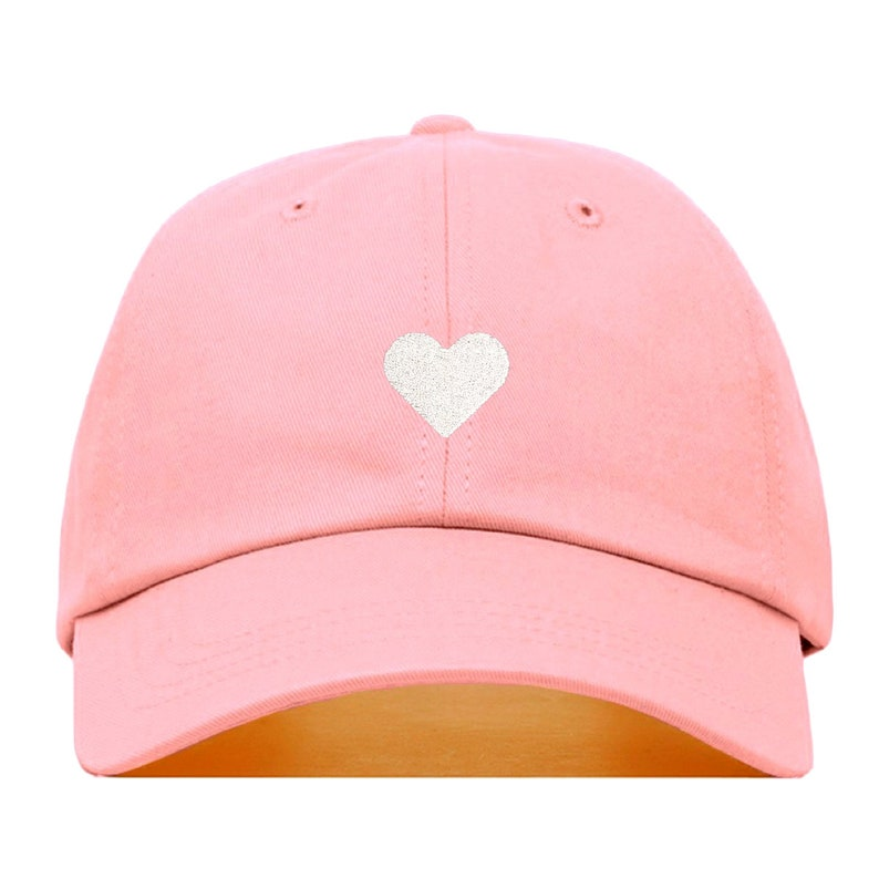 2416eda3f HEART Baseball Hat, Embroidered Dad Cap • Love Valentines Romance Couple •  Unstructured Six Panel • Adjustable Strap Back