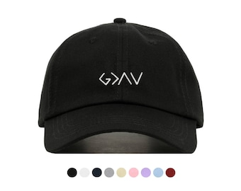 GOD IS GREATER Baseball Hat, Embroidered Dad Cap, Highs and Lows Religious Customizable Hat, Unstructured Low-Profile, Adjustable Strap Back