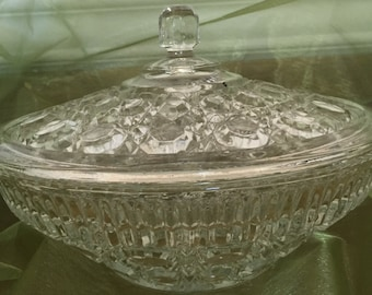Vintage Glass Candy Dish