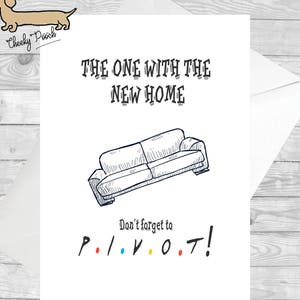 Funny new home card etsy friends inspired card new home cards funny new home cards funny greeting cards funny cards the one with pivot ross gellar new home m4hsunfo