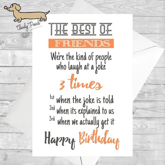 Happy Birthday Best Friend Bff Bae Joke Funny Etsy