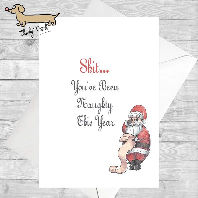 Biglietti Di Natale Divertenti.Cartoline Di Natale Divertenti Elenco Santas Amico Natale Etsy