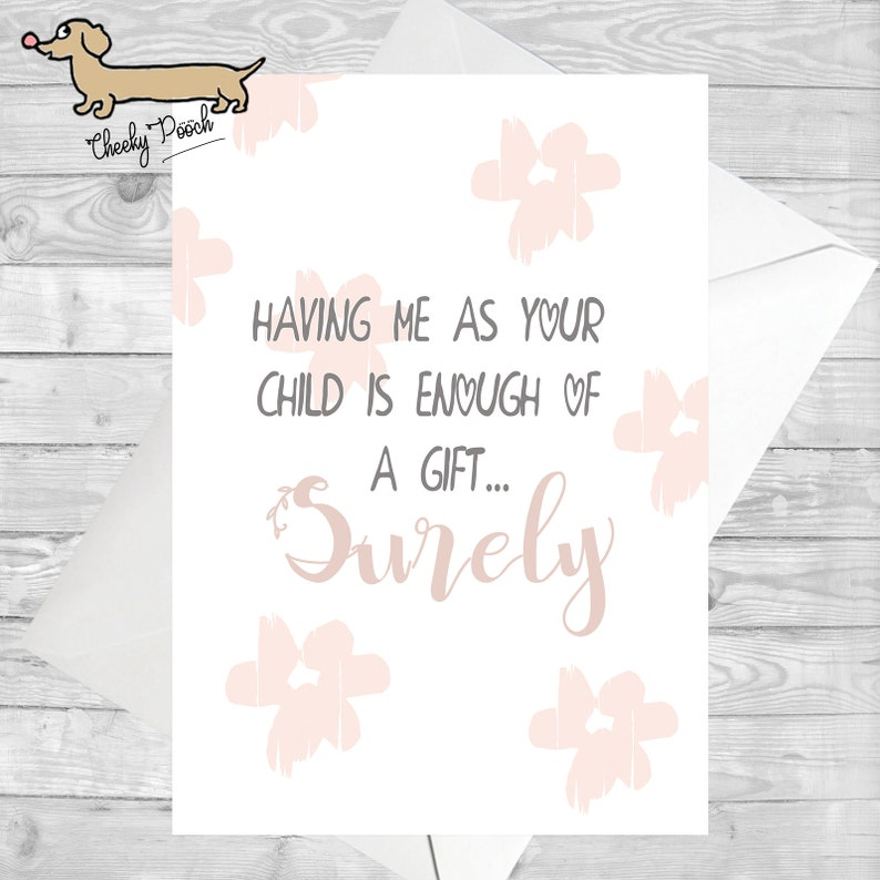 Funny Quote Cards Card For Mum Mothers Day
