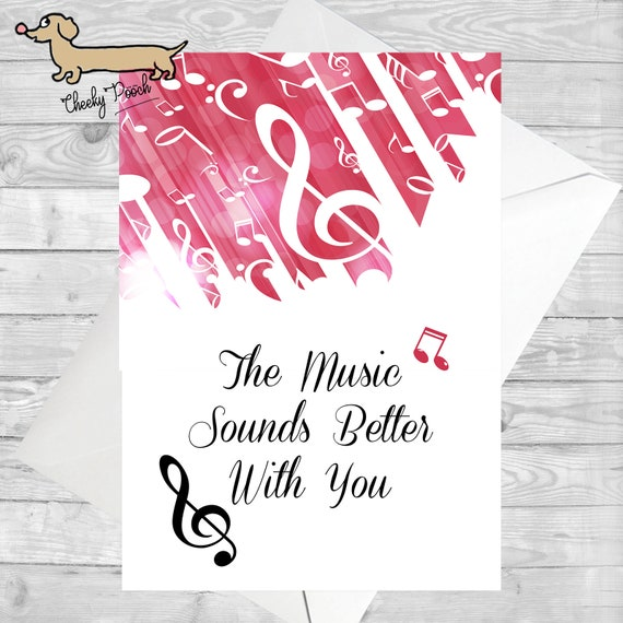 Music Card For Lovers Birthday
