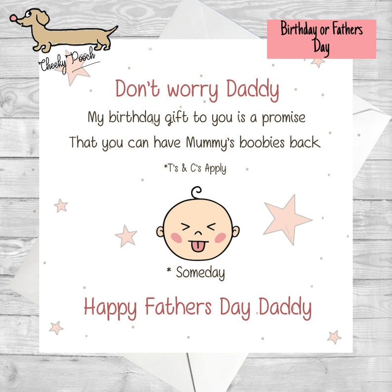 Breastfeeding Baby Fathers Day Funny Birthday Card For Dad Best Breastfed Daddy Cards