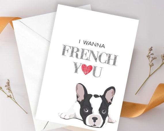Handmade Personalised French Bulldog Birthday Anniversary Valentines Card