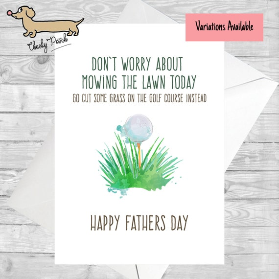 Golf Card Fathers Day Birthday Joke