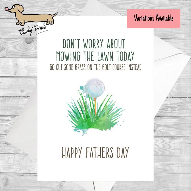 Golf Card Fathers Day Birthday Joke