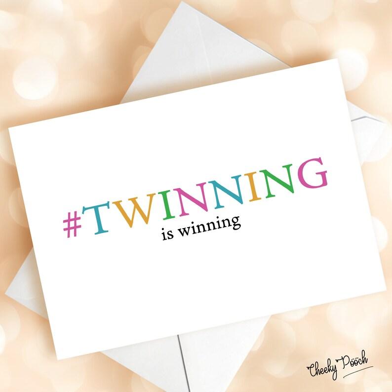 Twin Birthday Card For Twinning