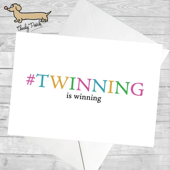 Twin Birthday Card For Twin Twinning Birthday Card For Etsy