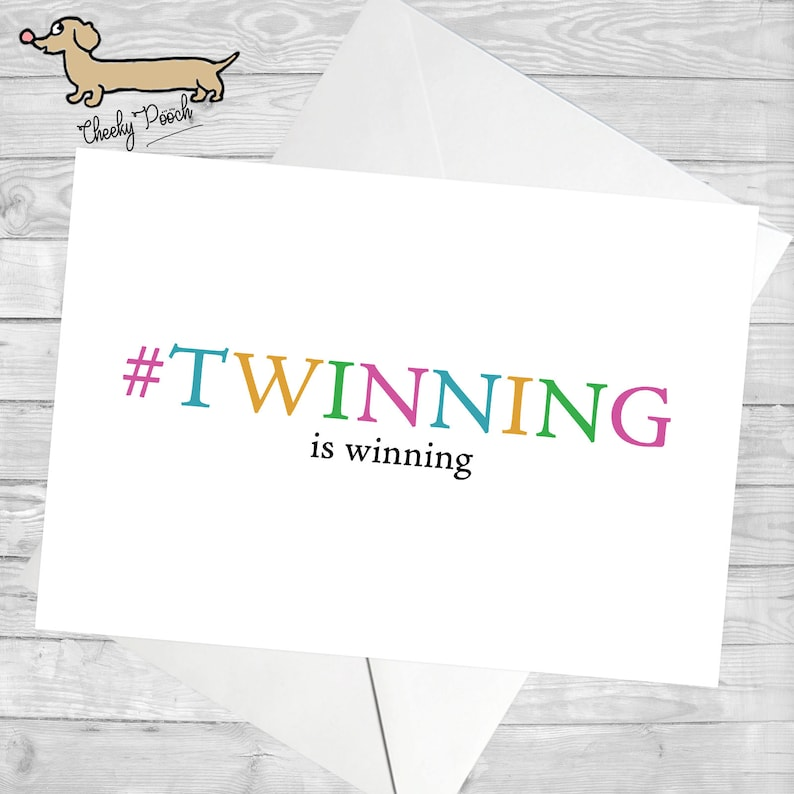 Twin Birthday Card For Twinning Twins Sister Brother Funny